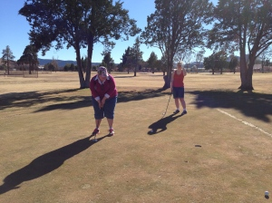 Golfing with Layla and Rebecca