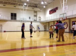 Basketball with Rachel, Rebecca, Layla and Elijah