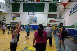 Rebecca shooting skills!